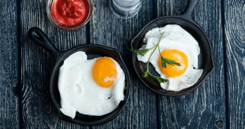 cast iron egg pan